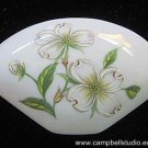Lefton China Fan-shape Dogwood Trinket Box Sign/Number