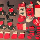 Christmas Stocking Ornaments or Party Favors 15 Pieces