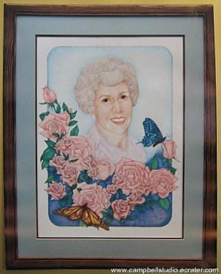 Custom Drawn Clr Portrait 1 Person/Border/UnFramed 18x24