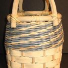 Basket - Slatted/Woven Tan/Blue MINT