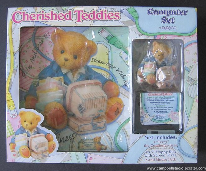 Cherished Teddies Computer Set (3 items) by Enesco NIB
