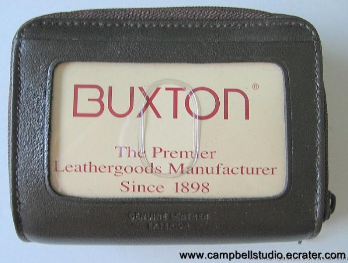Buxton Genuine Leather Credit Card & Change Wallet NEW