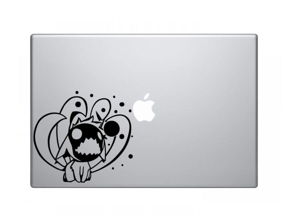 "Chibi Nine Tails Naruto Decal Sticker Skin Apple MacBook Pro Air Mac 13"" 15 iPad laptop"