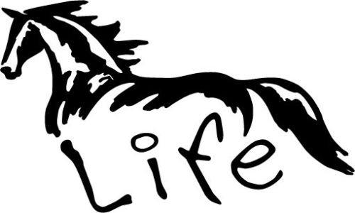 Horse Life Vinyl Car Truck Window Sticker Decal