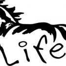 Horse Life Vinyl Car Truck Window Sticker Decal