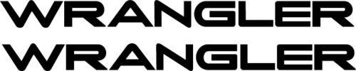 "Jeep "" WRANGLER "" DECAL X 2 FENDER DECAL 1996' - 2006' CJ TJ"