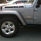 "Set of new style ""Wrangler"" Hood Truck Vinyl Stickers Decals"