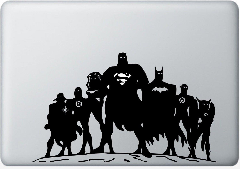 "Justice League Superhero Vinyl Decal Sticker Skin for Apple Macbook Pro 13"""