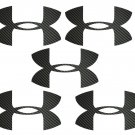 "black Carbon Fiber Under Armour Vinyl Decal 1.5""Sticker Vinyl (Set of 5)"