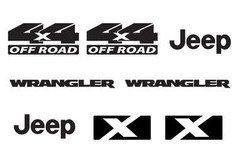 Jeep Wrangler X 4x4 Refresh Vinyl Decal Set