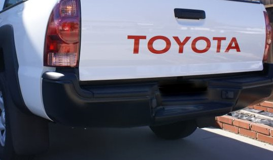 TOYOTA truck tailgate decal sticker emblem badge