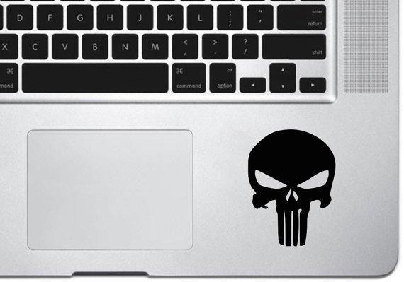 Punish skull Trackpad Vinyl Decal Sticker Apple MacBook Pro Air Mac
