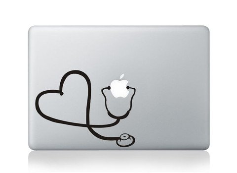 Stethescope Heart Vinyl Decal Sticker Apple MacBook Pro Air Mac