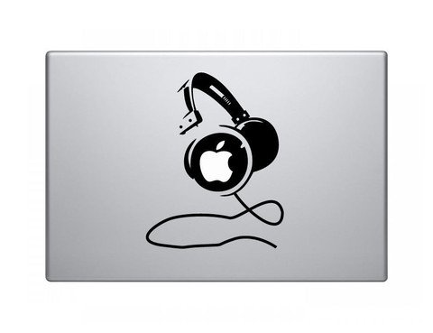 Headphones Vinyl Decal Sticker Apple MacBook Pro Air Mac