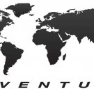 "Set of Motorcycle Decal ""World Adventure"" for Touratech Pannier GS1200 F650 F800"