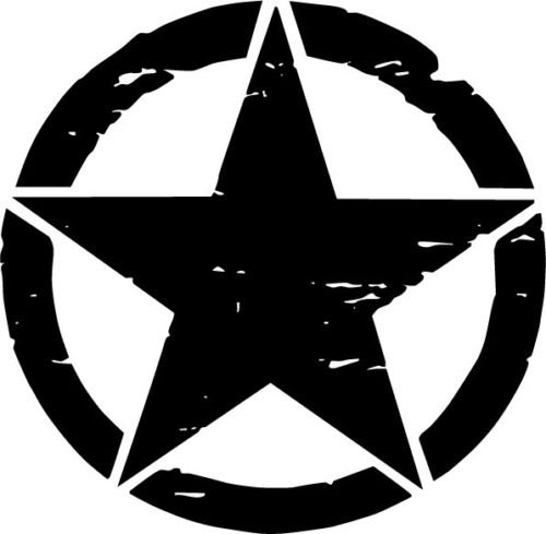 Carbon Fiber Oscar Mike Distressed Star Freedom Edition Vinyl Car Decal