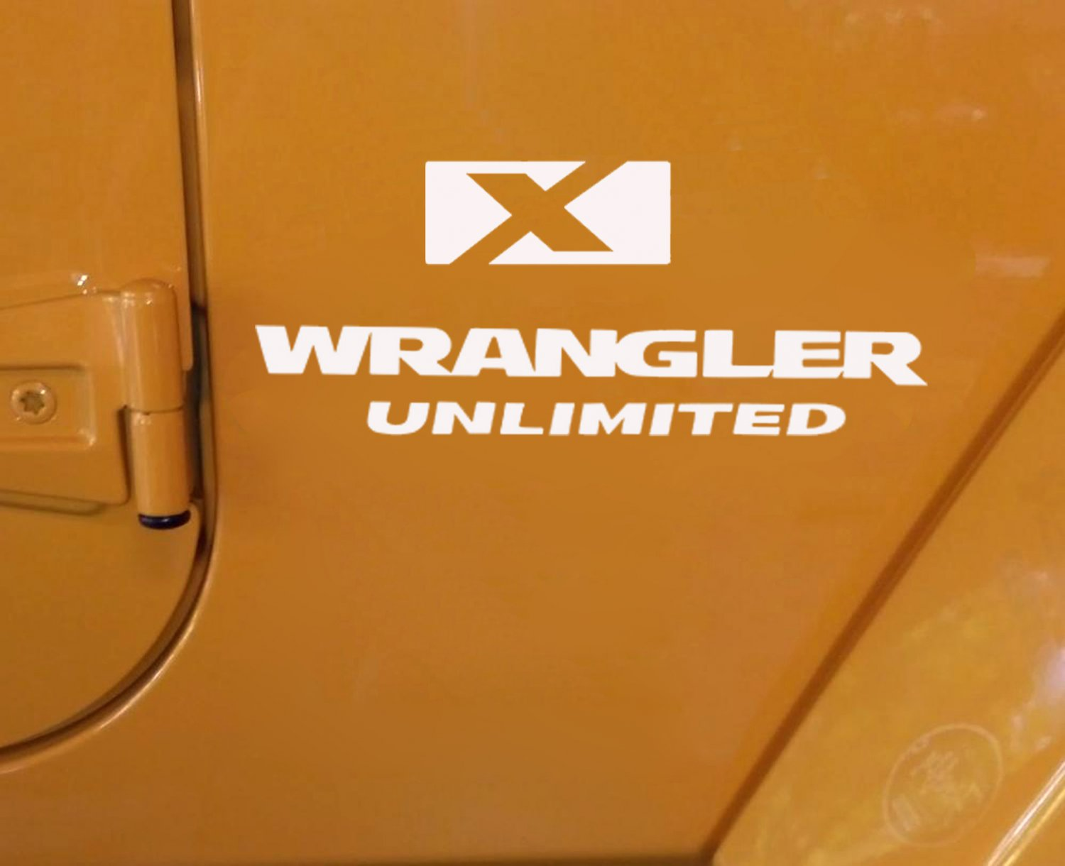2 of Jeep wrangler unlimited X Decal Stickers Logo white color