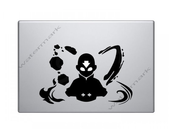 Avatar the Last Airbender Decal - Aang the 4 elements Macbook Decal Macbook