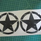 set of jeep star decal