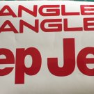 Set of Jeep Wrangler Replacement Vinyl Stickers Decals YJ TJ red Set
