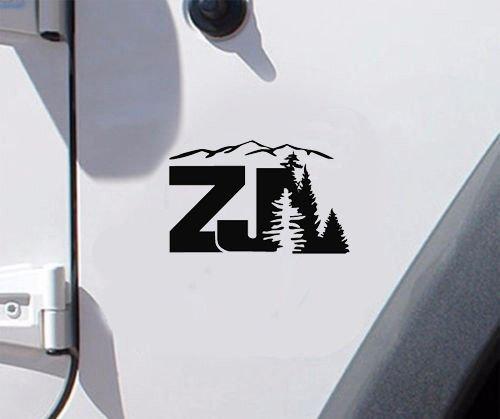 Set of jeep wrangler ZJ Design pine logo refresh sticker decal