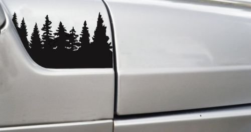 Jeep Wrangler Pine Tree hood Vinyl Stickers Full Set Decal TJ,pick Color