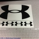 "Under Armour Decal Sticker Vinyl 1 Of 5"" And 4 Of 1.25"" black Window Surfboard"