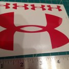 "Under Armour Decal Sticker Vinyl 1 Of 5"" And 4 Of 1.25"" red Window Surfboard"