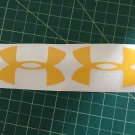 "Under Armour Decal yellow Sticker Vinyl 3 Of 3"" Windows Surfboard Car Laptop"