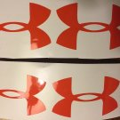 "Under Armour Decal orange Sticker Vinyl 4 Of 3"" Windows Surfboard Car Laptop"