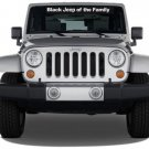 "1of ""Black Jeep of the Family"" Windshield Decal Vinyl Stickers"