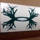 "Under Armour/Armor Antlers vinyl decal/sticker 5"" H Dk green Hunting Logo"