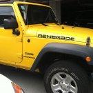 Pair of Jeep renegrade hood Truck Vinyl Stickers Decals CJ TJ JK 4x4