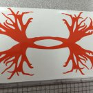 Under Armour/Armor Antlers vinyl decal/sticker Deer Outdoors Hunting*orange*
