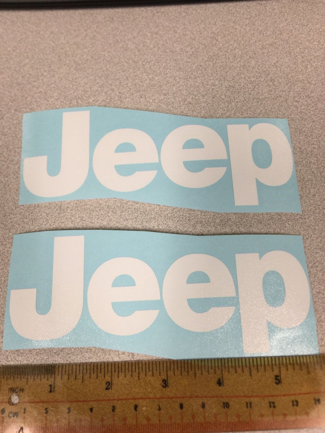 JEEP WRANGLER CJ YJ replacment fender vinyl Decal sticker 1 Set White Decal