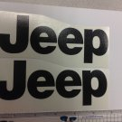 JEEP WRANGLER CJ YJ replacment fender vinyl Decal sticker 1 Set black Decal