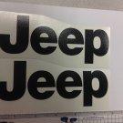 JEEP WRANGLER CJ YJ replacment fender vinyl Decal sticker 1 Set black Decal