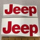 JEEP WRANGLER CJ YJ replacment fender vinyl Decal sticker 1 Set red Decal