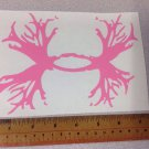 "BIG Under Armour/Armor Antlers vinyl decal/sticker 14"" pink Logo Hunting"