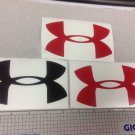 "Under Armour Decal Sticker Vinyl 3 Of 5"" Windows Surfboard Red Black Combo"