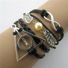 Europen Retro Angel Wings Harry Potter Handmade Infinity Bracelet