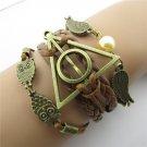 Europen Retro Harry Potter the Dove of Peace Owl Handmade Infinity Bracelet