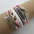 Europen Retro Owl Love Eight Handmade Christmas Infinity Bracelet