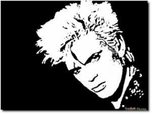 Billy Idol Pop Art Painting