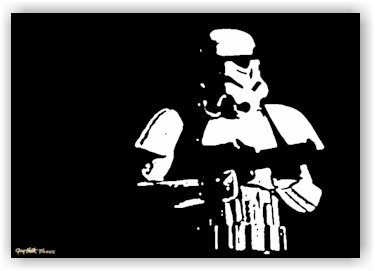 Storm Trooper Pop Art Painting