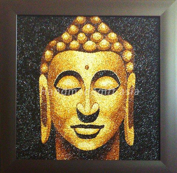 Lord Buddha Rice painting