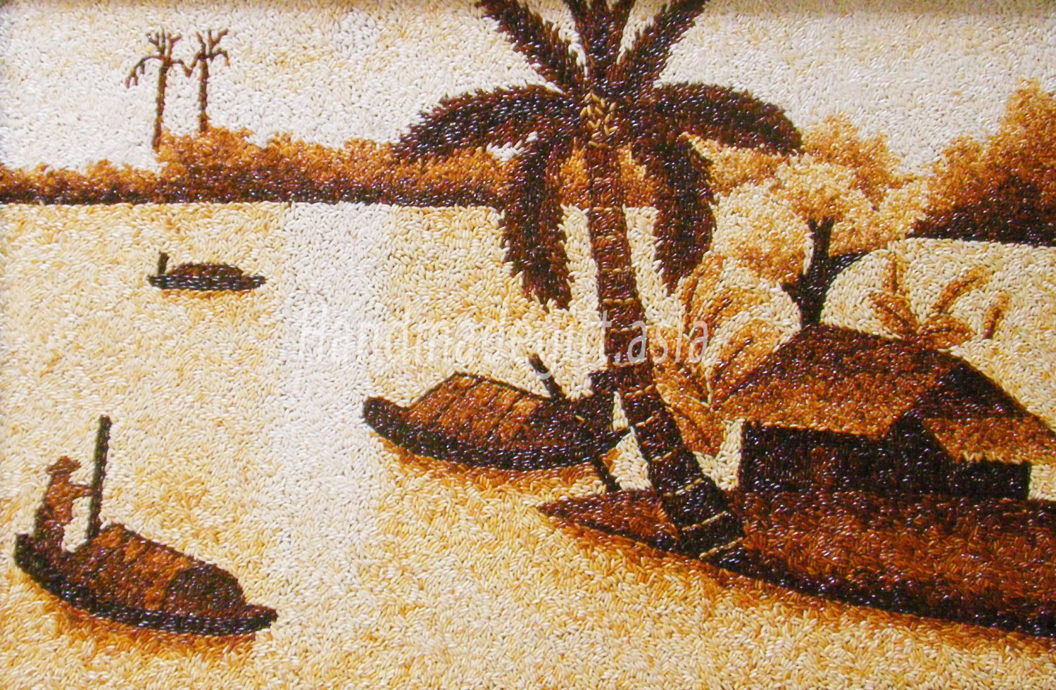 Landscape in the countryside of Vietnam - Rice Painting