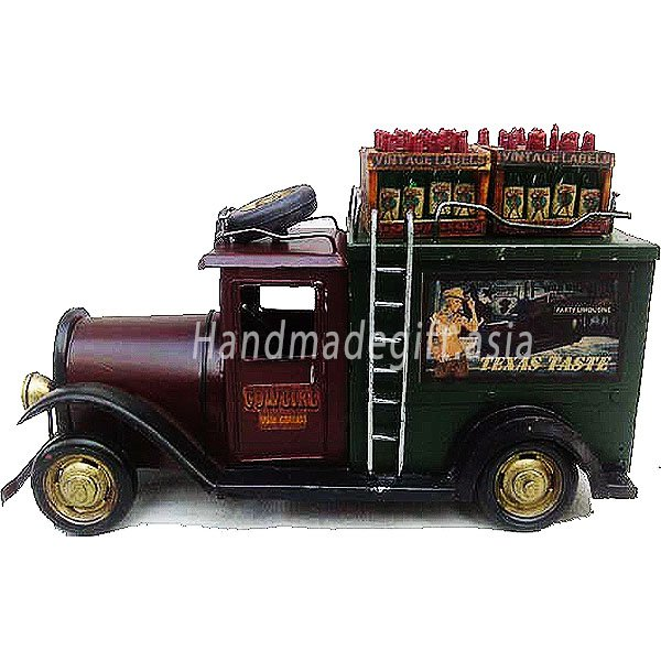 Vintage truck model for decoration - Cowgirl Wine Truck