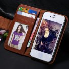 Leather case for  iphone 5 5S