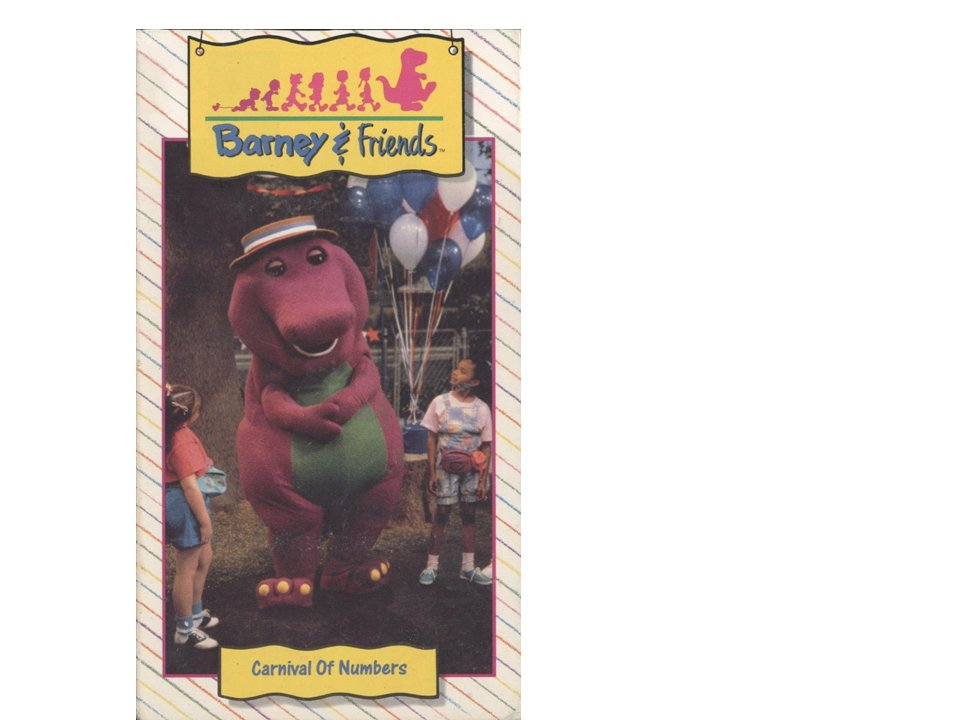Barney & Friends: Carnival of Numbers (VHS, 1992)